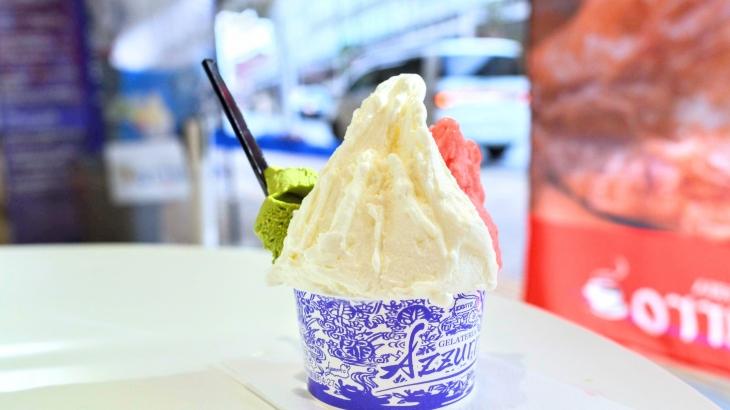 ジェラテリアアズーロの近江米ジェラートが衝撃的!お米のつぶつぶを味わう斬新な食感に舌鼓【駐車場情報あり】
